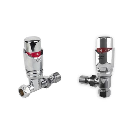 Drayton TRV4 Chrome 15mm Thermostatic Radiator Valve