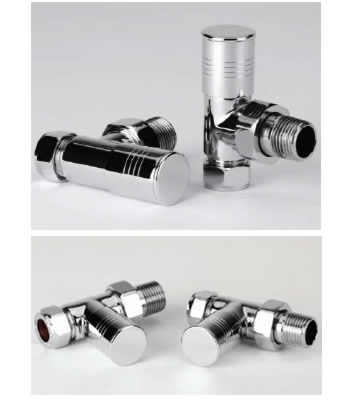 Durham Chrome Radiator Valve Set