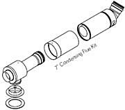 Firebird Stainless Steel Low Level Flue Kit 380-600mm - 73kW boiler