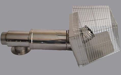 Firebird Stainless Steel Short Low Level Flue Kit for 73kW boilers