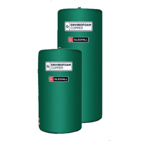 Gledhill Envirofoam Copper Indirect Vented Cylinder