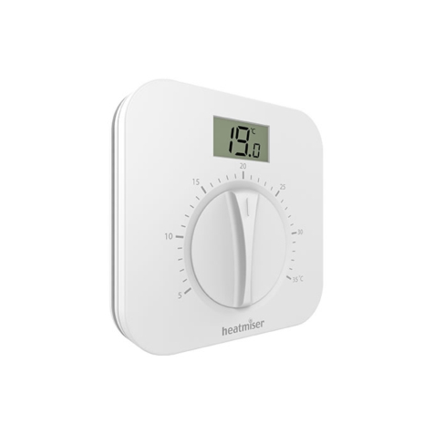 Heatmiser DS1-L v2 Manual Dial Thermostat with Display