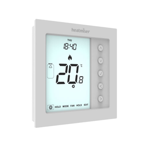 Heatmiser Edge-HC Multimode Fan Coil Thermostat with Modbus Communication