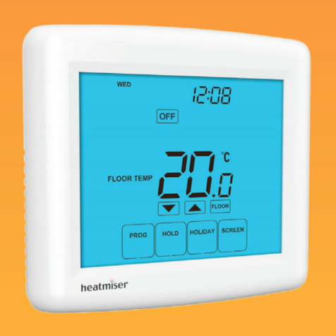 Heatmiser Touch-E V1 Electric Floor Heating Touchscreen Room Thermostat