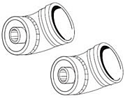 Ideal Flue Elbow 45 Degree Pair 203131