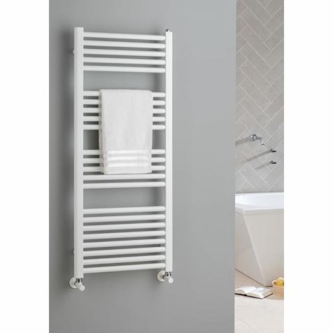 The Radiator Company Poppy White Towel Rails