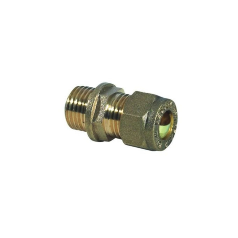 "10mm x 1/4"" Male Iron to Copper Compression Fitting"