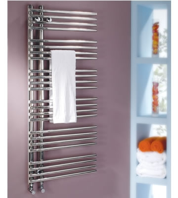 MHS Comb 1200mm x 500mm Polished Stainless Steel Towel Rail