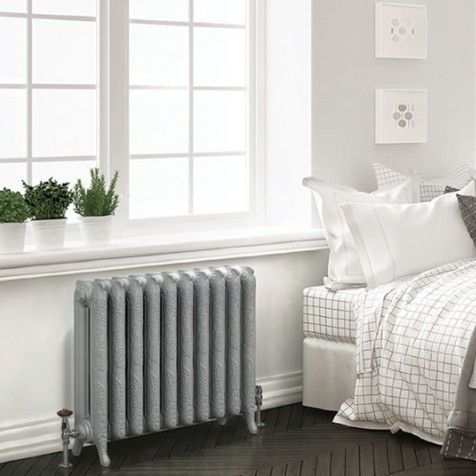 MHS Liberty 954mm High Cast Iron Column Radiators in Primer Finish