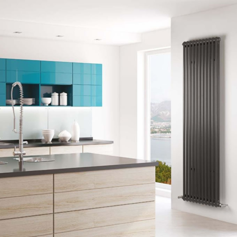 MHS Multisec Anthracite 2 Column 1800mm High Radiators