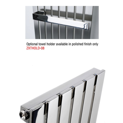 MHS 350mm Optional Polished Stainless Steel Towel Holder