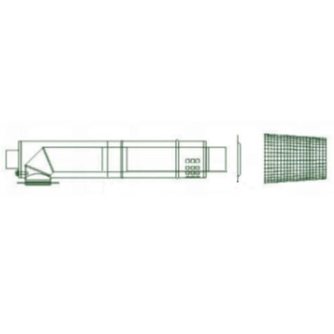 Mistral Low Level Stainless Steel Balanced Flue Kit for 15-41kW models
