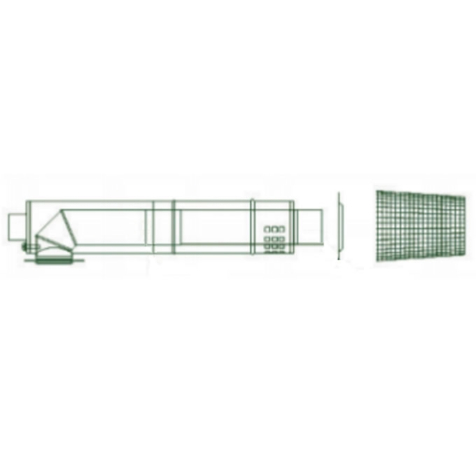 Mistral Low Level Stainless Steel Balanced Flue Kit for 41-68kW models