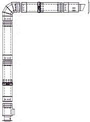 Mistral High Level Horizontal Stainless Steel Flue Kit 15-41kW models