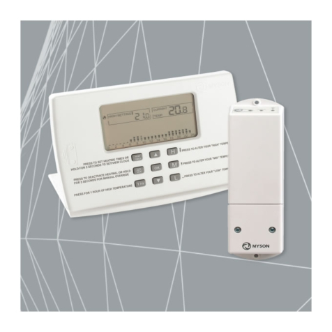 Myson MPRT RF Programmable Room Thermostat - White Finish