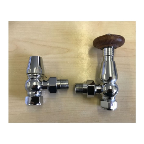 Oxford Traditional Chrome Angled TRV and Lock shield
