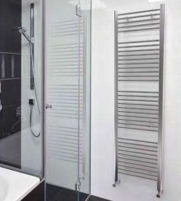 Quinn Crystal Chrome Curved Towel Rails