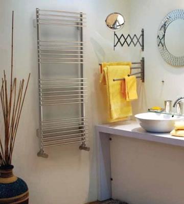 Quinn Pearl White Straight Towel Rails