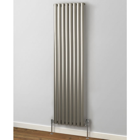 Rads 2 Rails Finsbury Vertical Radiators in White and Anthracite