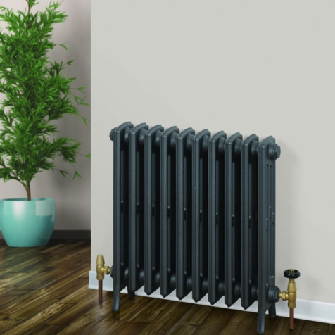 Rads 2 Rails Hampstead Cast Iron Column Radiators in Primer Finish