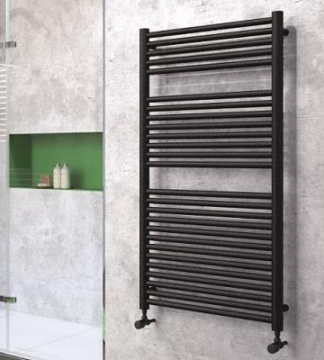Radox Hercules Horizontal Black Pearl Towel Rails