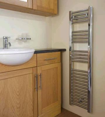 Radox Premier Slimline White Towel Rails