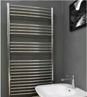 Radox Premier XL Curved Polished Stainless Steel Towel Rails