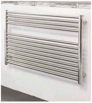Radox Premier XL Flat Horizontal Polished Stainless Steel Towel Rails