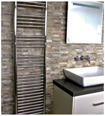 Radox Premier XL Flat Polished Stainless Steel Towel Rails