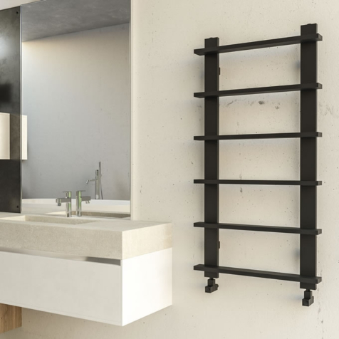 Radox Saber Matt Black Towel Rail