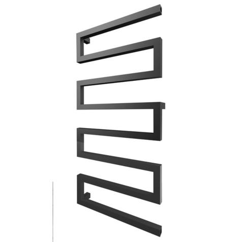 Radox Serpentine Matt Black Towel Rails