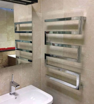 Radox Serpentine Polished Stainless Steel Towel Rails