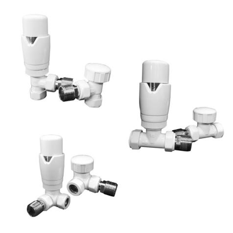 Radox White Thermostatic Radiator Valve and Lock Shield Pack