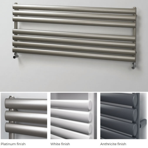 Rads 2 Rails Finsbury Wide Towel Rails in White or Anthracite