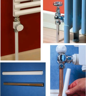 Radsnap Chrome Effect Radiator Pipe Covers - 3 x 1 Metre