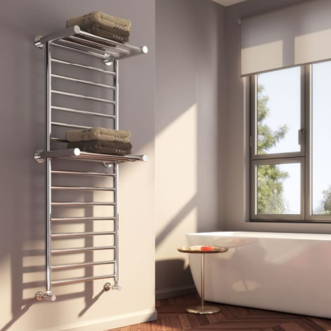 Reina Adena Polished Stainless Steel Towel Rail