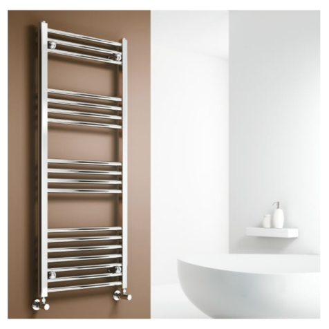 Reina Capo Electric Chrome Towel Rails with Thermostatic Element