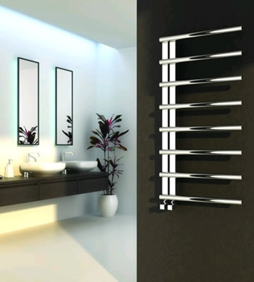 Reina Celico Polished Stainless Steel Towel Rail