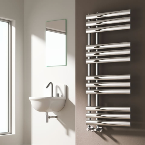 Reina Chisa Anthracite Towel Rail