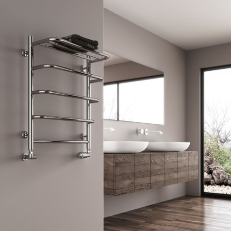 Reina Elvo Polished Stainless Steel Towel Rails