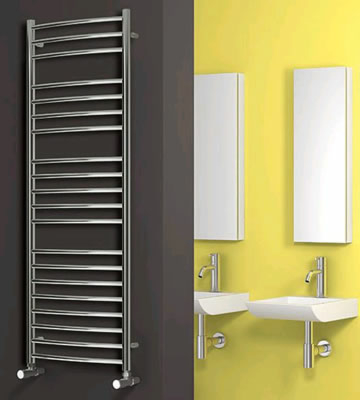 Reina Eos Curved Polished Stainless Steel Towel Rails