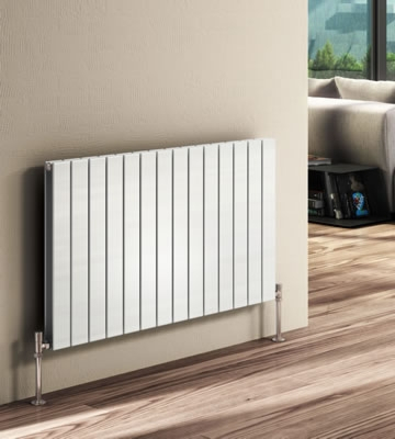 Reina Flat Horizontal Radiators in RAL Colour Finishes