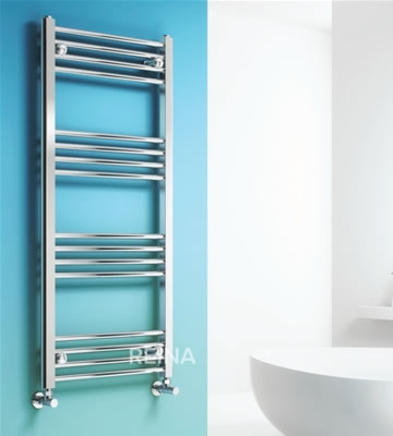 Reina Linea Chrome Curved Towel Rails