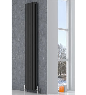 Reina Neva Vertical Single Anthracite Radiators