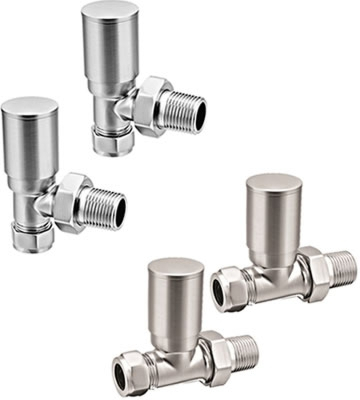 Reina Portland Brushed Radiator Valves