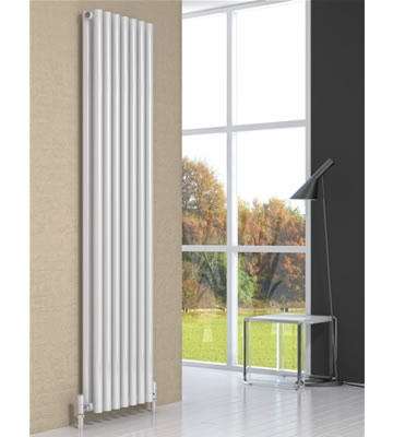 Reina Round White Single Radiator