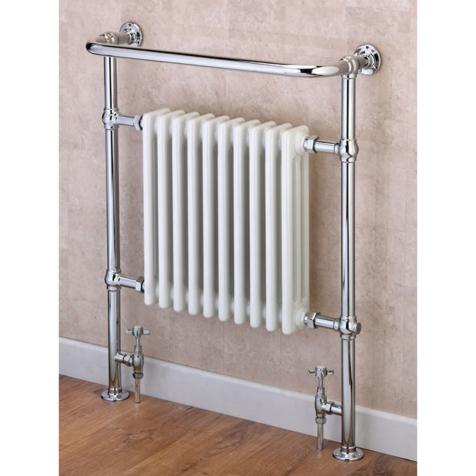 Supplies4Heat Boleyn Floor Standing Towel Rail with Column Radiator