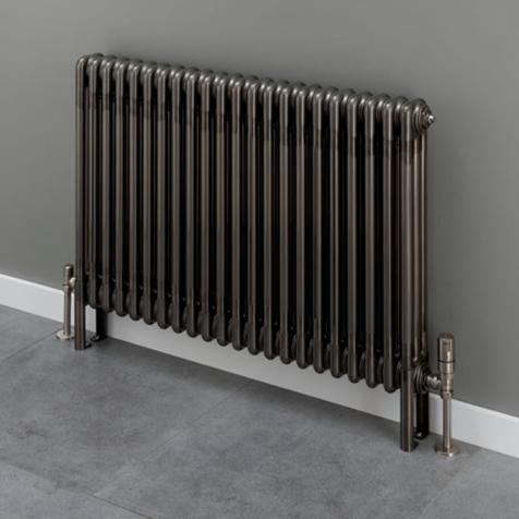 Supplies4Heat Cornel Horizontal 4 Column Bare Metal Lacquer Radiators