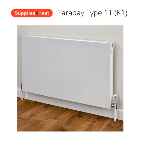 Supplies4Heat Faraday Type 11 500mm High White Radiators