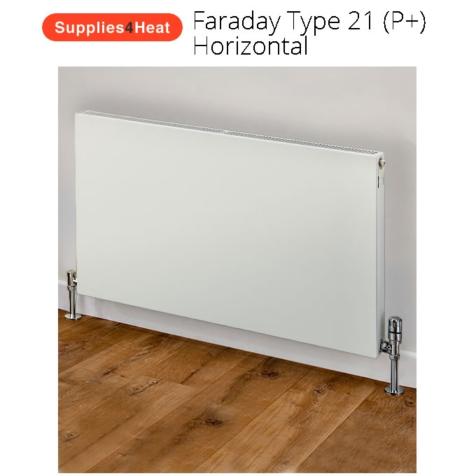 Supplies4Heat Faraday Type 21 600mm High White Radiators
